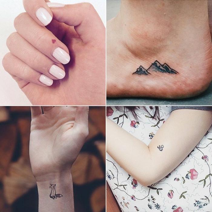 tatuajes pequeños con significado en diferentes partes del cuerpo, ideas de tatuajes con significado mujer