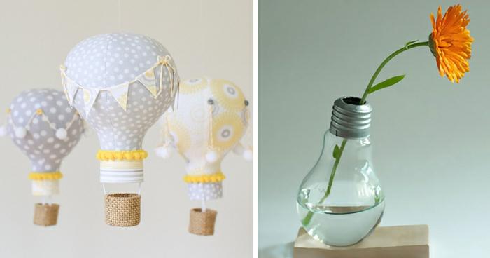 originales propuestas de manualidades con material reciclado, ideas con bombillas reutilizadas