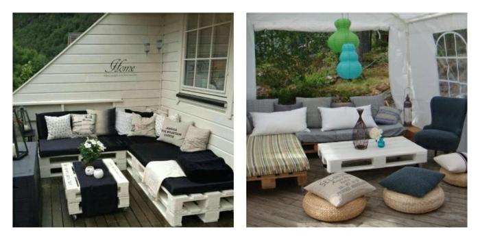 imagen que os muestra cómo se puede hacer una mesa económicay decorar el jardín de casa