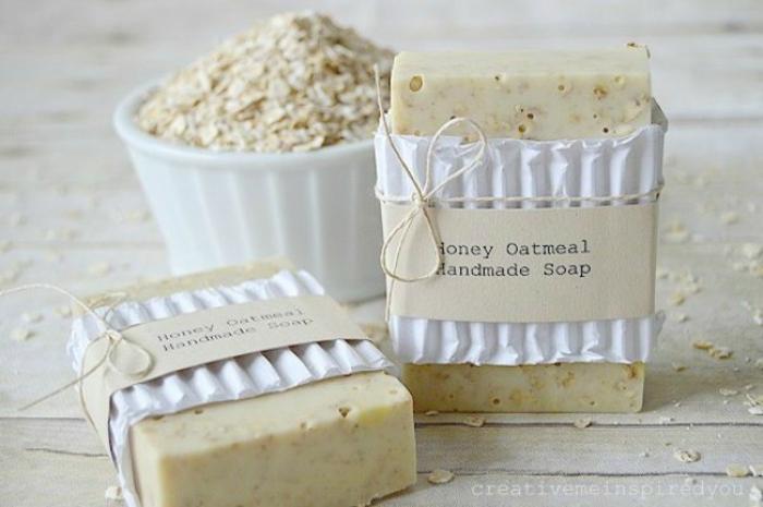 como hacer jabones naturales con avena paso a paso, jabones orgánicos hechos a mano, recetas fáciles