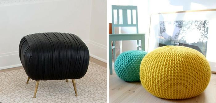 sofas pequeños, ideas para comprar el taburete ideal o otomana en diferentes colores