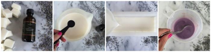 como hacer jabon con aceite natural de vainilla y lavanda paso a paso, ideas fáciles y divertidas