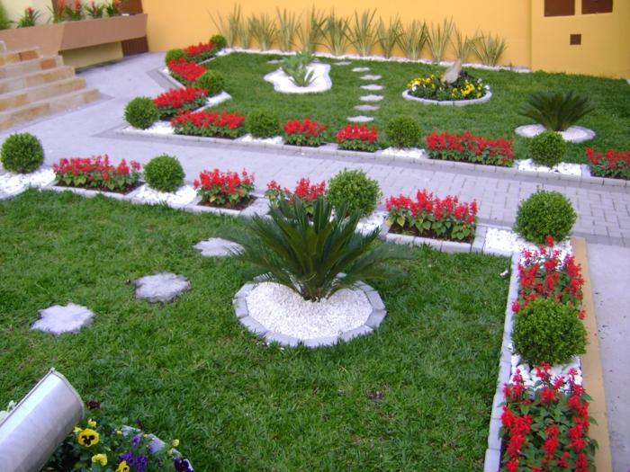 jardines bonitos y moderno, diseño de encanto de pequeño jardín en estilo mediterráneo
