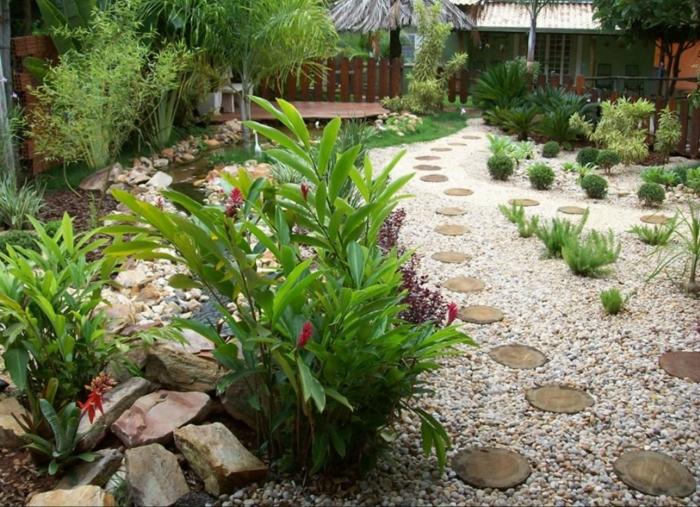 jardines bonitos y modernos decorados con canto rodado, consejos y trucos de los top paisajistas