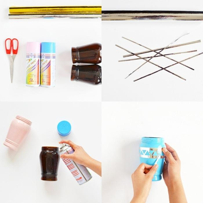 manualidades con reciclaje paso a paso, ideas encantadoras para reciclar botellas y potes de vidrio