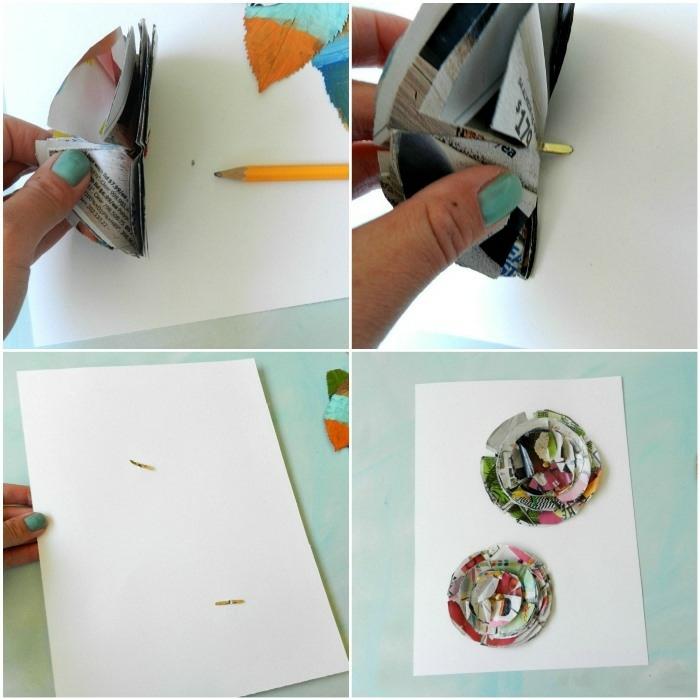pasos para hacer una bonita decoración para la pared, manualidades faciles y rapidas con tela y papel