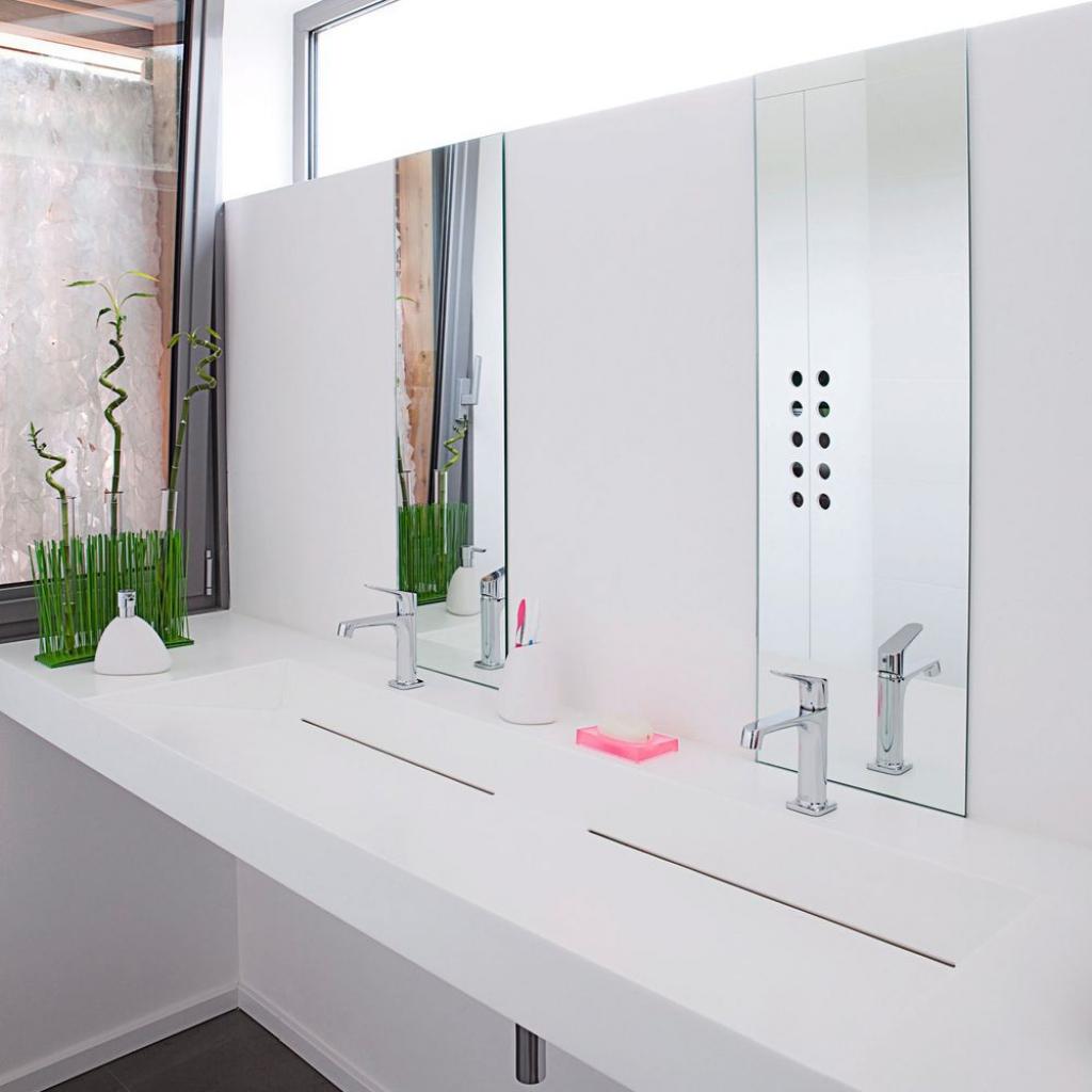 decoracion baños modernos en blanco según las últimas tendencias minimalistas en decoración de interiores