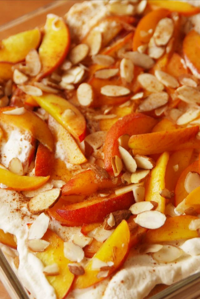 tartas faciles para impresionar y postres con frutas, ejemplos de postres con manzanas originales, manzanas, canela y avellanas