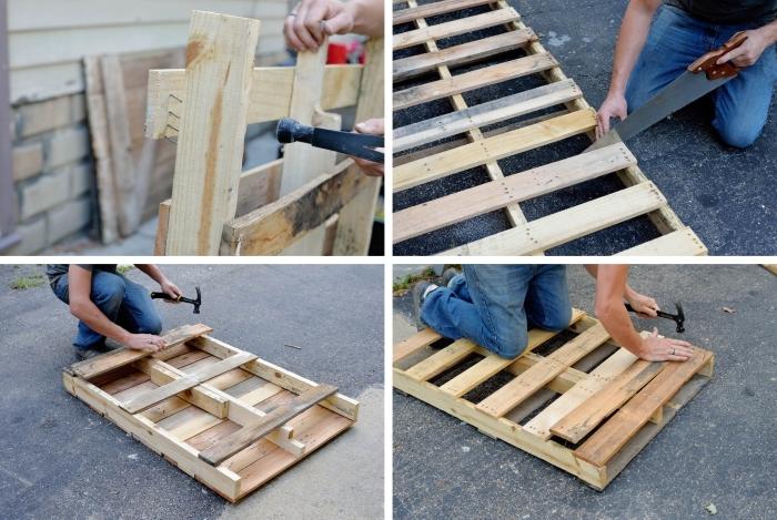 pasos para hacer tu mesa ideal de palets, cuatro pasos de hacer tu mesa económica con listones adicionales