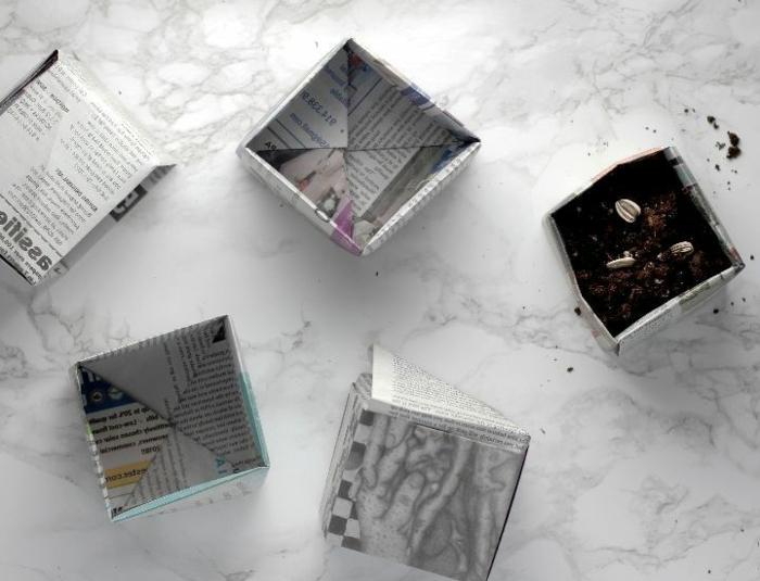 ideas creativas de manualidades con papel periódico, manualidades faciles y rapidas