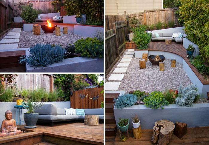 decoracion de jardines rústicos, diferentes ideas de decoración para nuestro patio con área de piedras