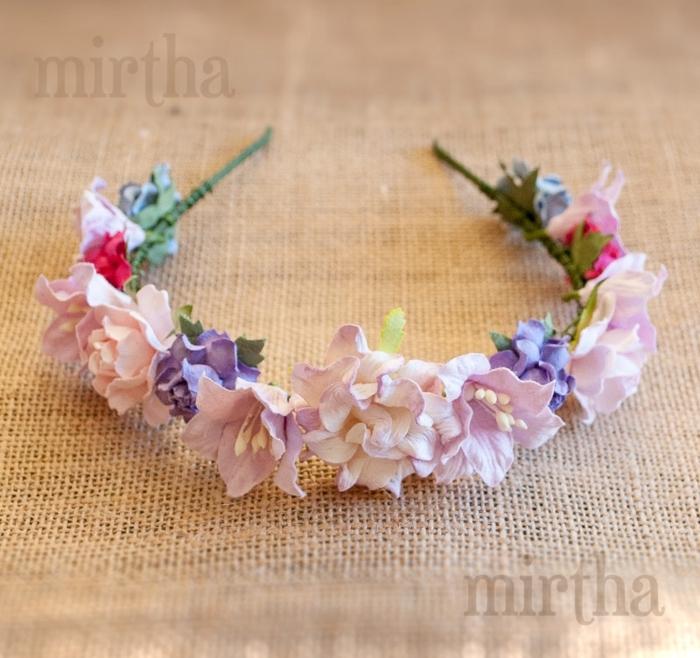 peinados faciles y bonitos, diadema de flores para la cabeza, ideal para tu niña bonita, mirtha