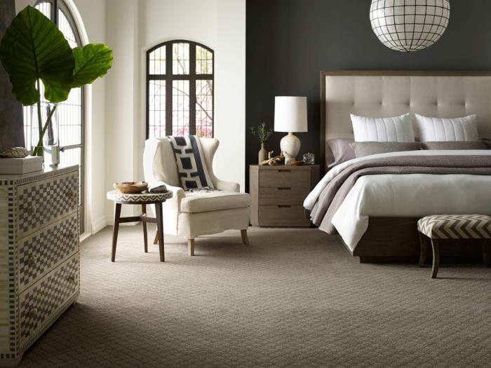 simplicidad y estilo en los tonalidades del beige, cómo decorar una habitación en estilo moderno