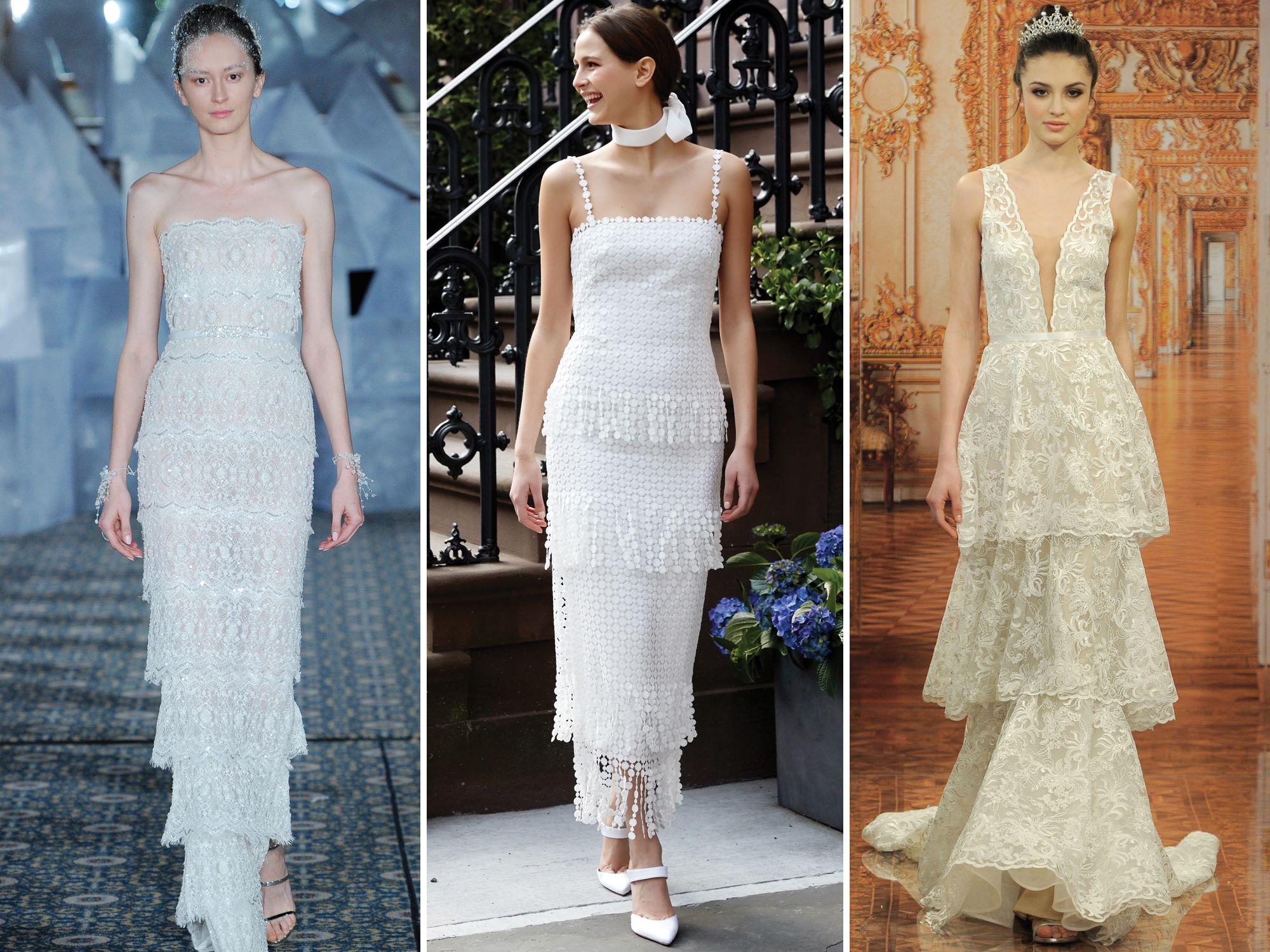 tres propuestas según las últimas tendencias en la ropa ibicenca, diseños de encanto para una boda boho