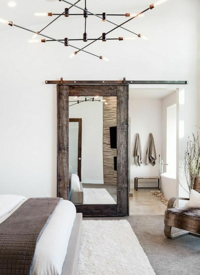 decoración rústica moderna, como decorar una habitacion pequeña en colores claros con detalles de madera