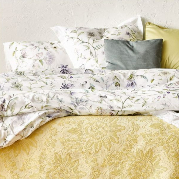 ideas de combinaciones de colores y estampados en el dormitorio, como decorar una habitacion