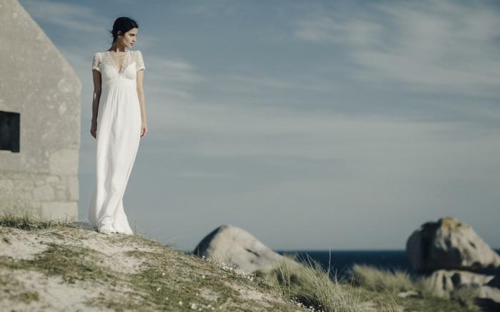 diseño sencillo inspirado en la moda ibicenca, últimas tendencias en los vestidos en estilo bohemio