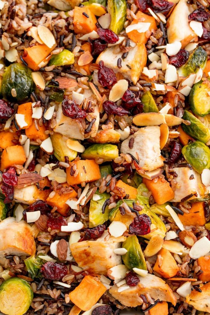 recetas faciles para cenas con pollo, cacerola con pollo, legumbres, ricas propuestas de comidas saludables
