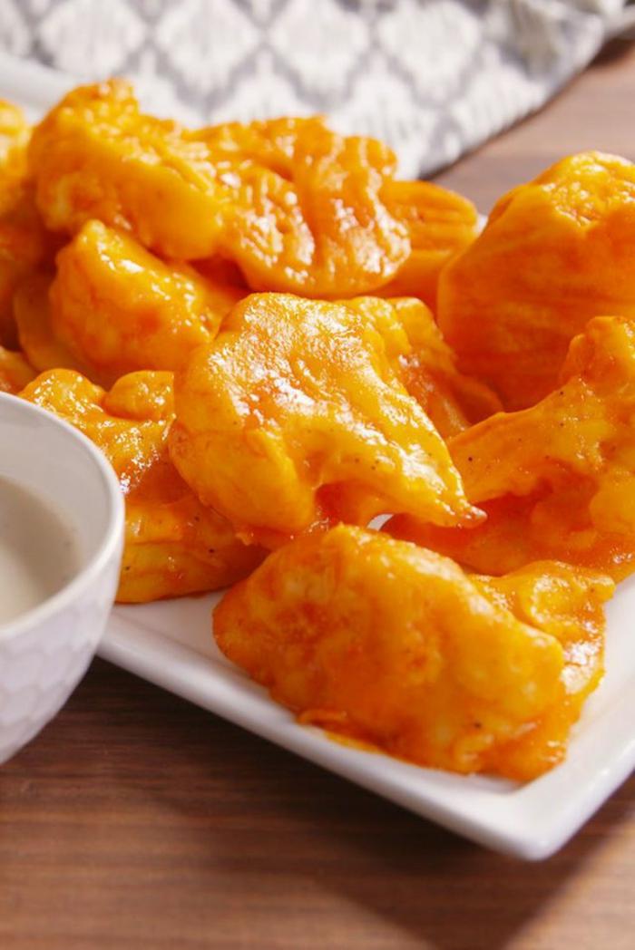 alitas de colifolor receta saludable y fácil, recetas de cocina faciles y rapidas paso a paso