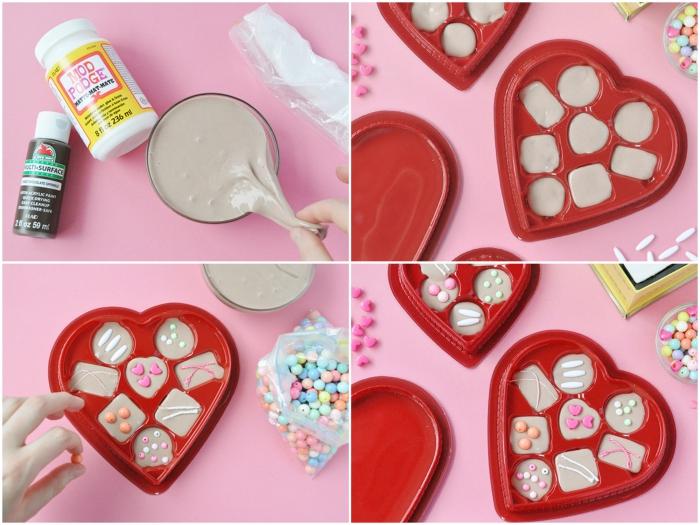pasos para hacer una caja de chocolates de slime para regalar en el día de san valentín, ingredientes slime