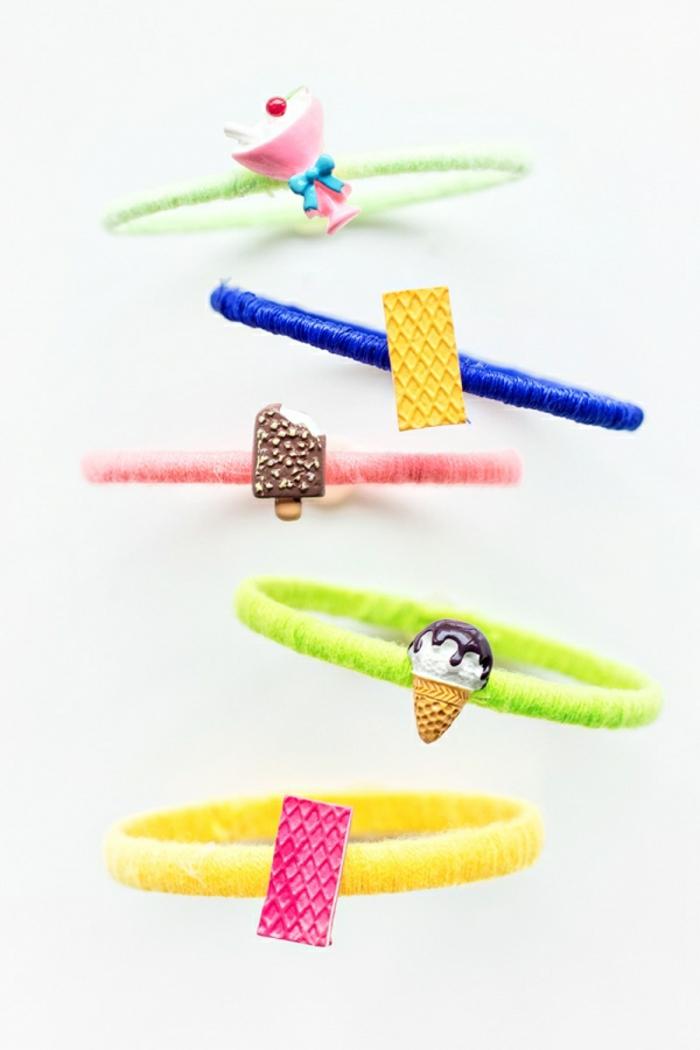 pulseras de encanto DIY en diferentes colores tonos neon, que regalar a una amiga para sorprenderla