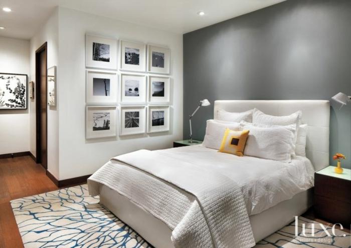 1001 ideas de c mo pintar un dormitorio en tu casa - Gris claro pared ...