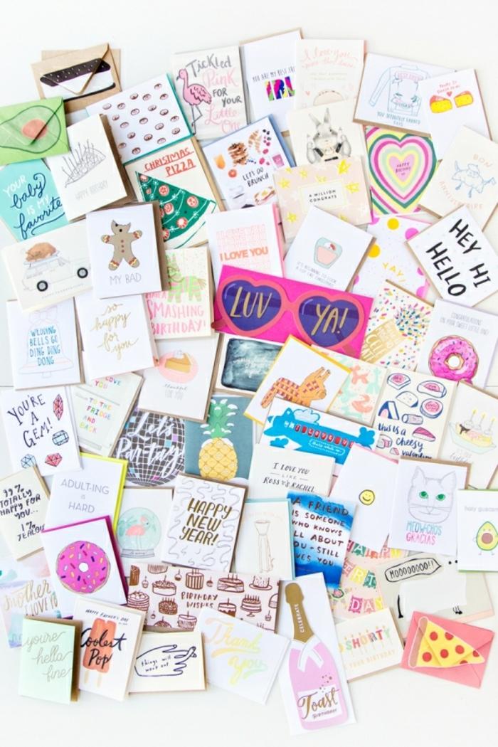 divertida idea, sorprende tu mejor amiga con un monton de tarjetas, ideas para regalar a una amiga