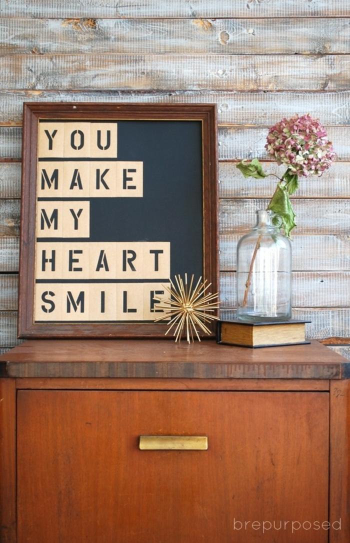 que le puedo regalar a mi mejor amiga, ideas originales para decorar la casa, cuadro decorativo con mensaje