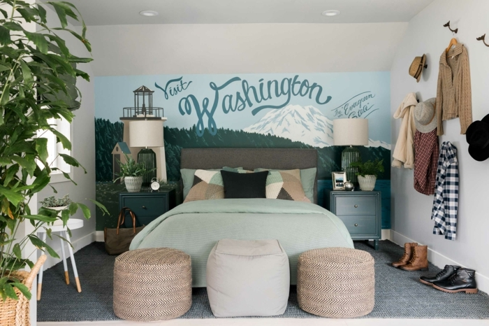 interior bohemio en colores claros, como decorar una habitacion pequeña según las top tendencias