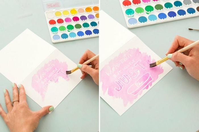 originales ideas para ideas para regalar a una amiga, dibujos con crayones y acuarelas