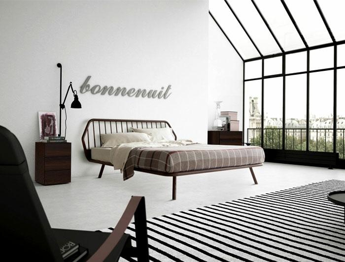habitación minimalista en estilo contemporáneo con grandes ventanales, ideas decorar habitacion matrimonio pequeña