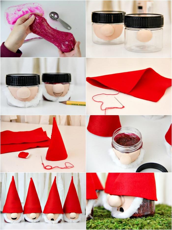 adornos navideños hechos a mano con slime, ideas sobre como hacer slime sin borax y pegamento