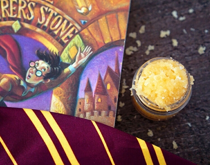 regalos tematicos Harry Potter, sorpresas de cumpleaños para amigas, exfoliante natural color naranja