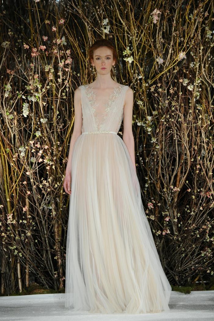 vestidos ibicencos baratos en color marfil, vestido de novia de encanto con escote en v y cintura alta