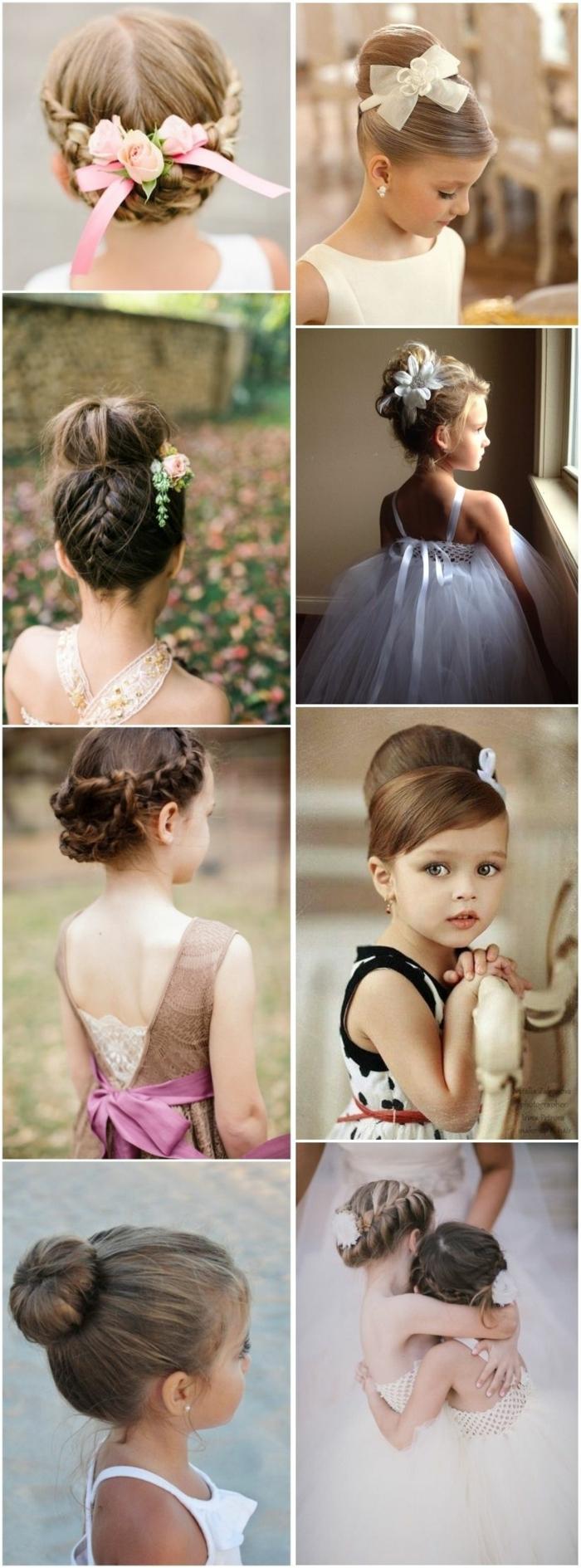 peinados de niñas faciles, ocho ideas de peinado oficiales con moños y trenzas y decoradas con cintas y flores