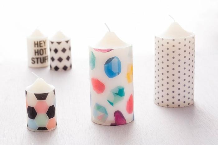 preciosas ideas sobre que le puedo regalar a mi mejor amiga, velas decorativas con papel estampada