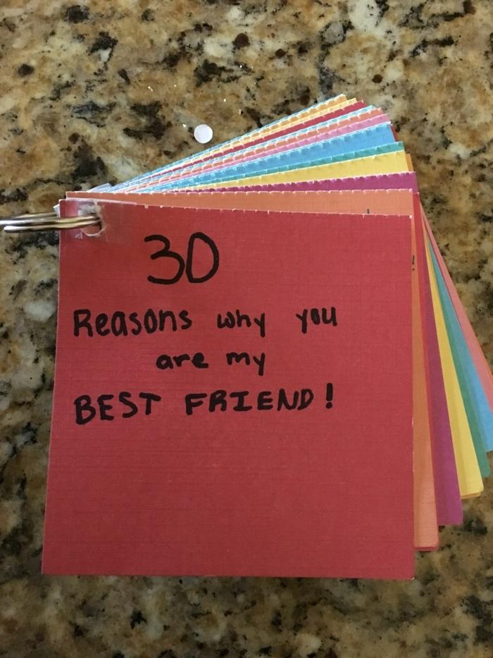 bonita idea DIY, mensajes porque eres mi mejor amiga, que regalar a una amiga por su cumpleaños