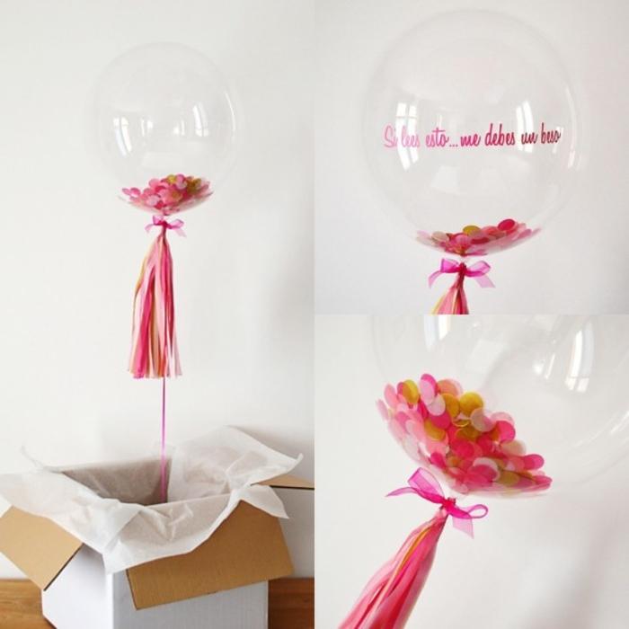 sorpresa con globos llenos de helio y confetti para el cumple de tu mejor amiga, que regalar a una amiga por su cumpleaños