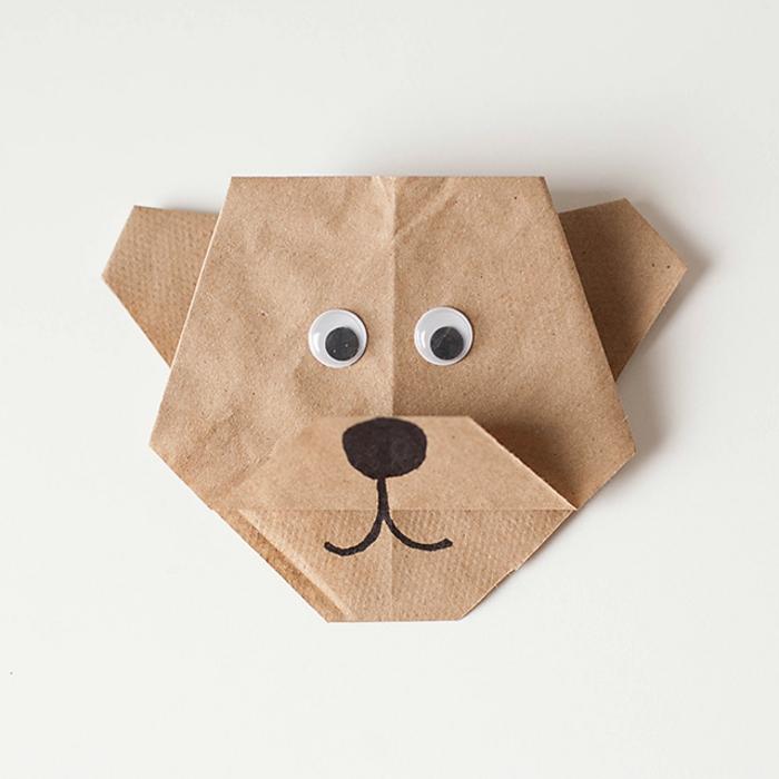 ideas originales de manualidades para los niños, origami facil DIY, pero hecho con papel super facil de hacer