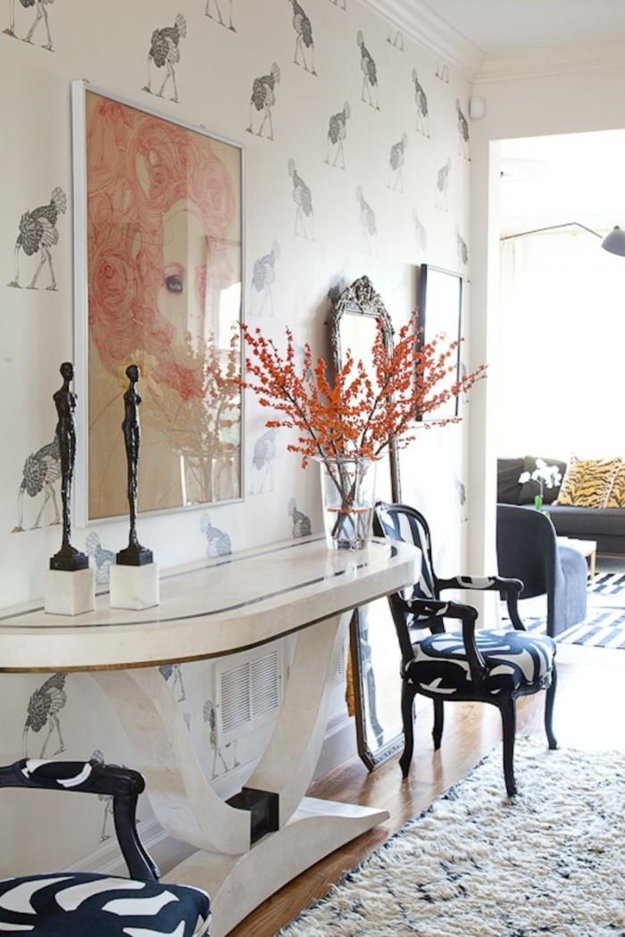 1001 ideas de decoraci n de recibidores modernos for Corredor deco blanco y negro