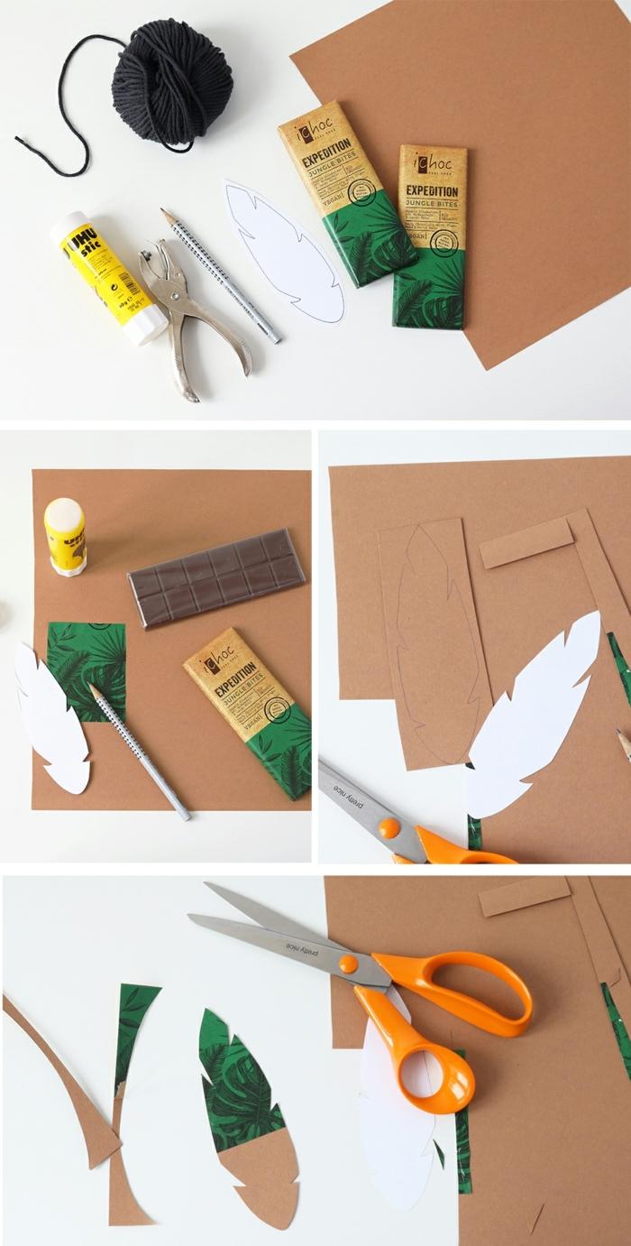 pasos para hacer marcarpaginas originales de cartón, separadores de libros con elementos botánicos