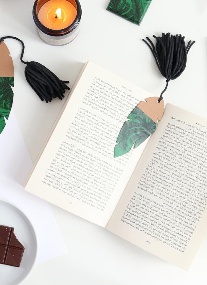 marcarpaginas de cartón que enamoran, marcarpaginas personalizados con elementos botánicos