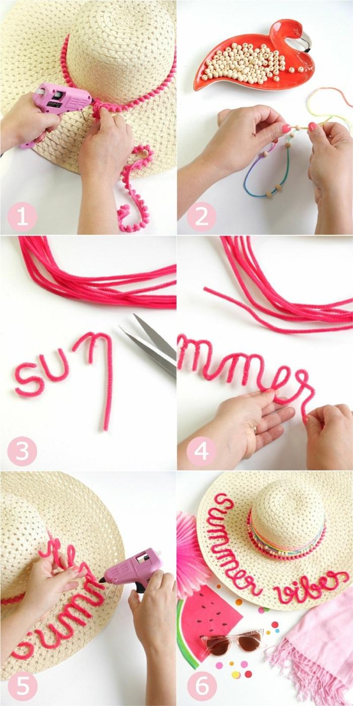 como decorar un sombrero de verano paso a paso, ideas creativas para hacer en casa con tutoriales