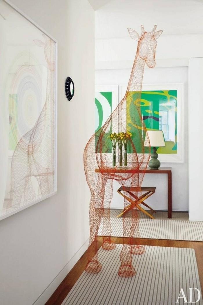 preciosa decoración pasillo, diseño super original, ideas de recibidores pequeños decorados según las últimas tendencias