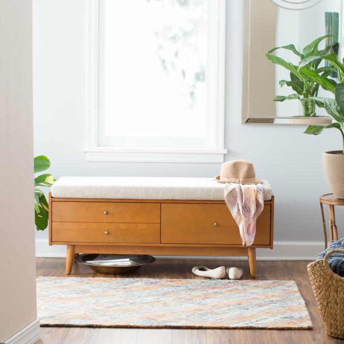 decoracion de espacios en tonos claros, recibidores pequeños decorados según las top tendencias