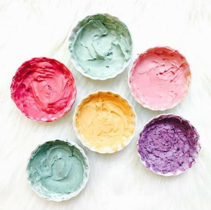 pinturaas comestibles en colores pasteles, ideas divertidas de manualidades fáciles y rápidas