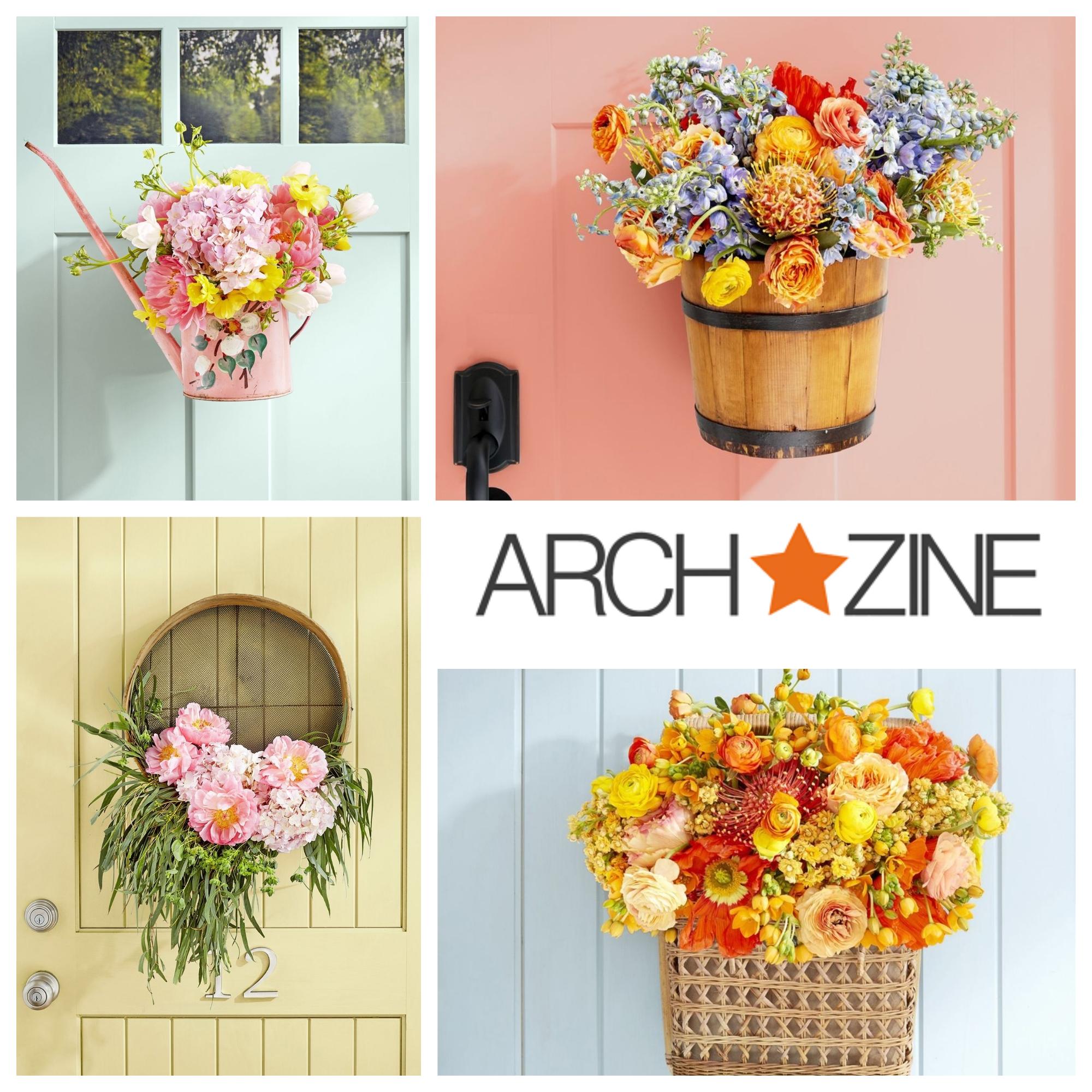 cuatro ideas de decoración DIY en la puerta de entrada, manualidades faciles de hacer