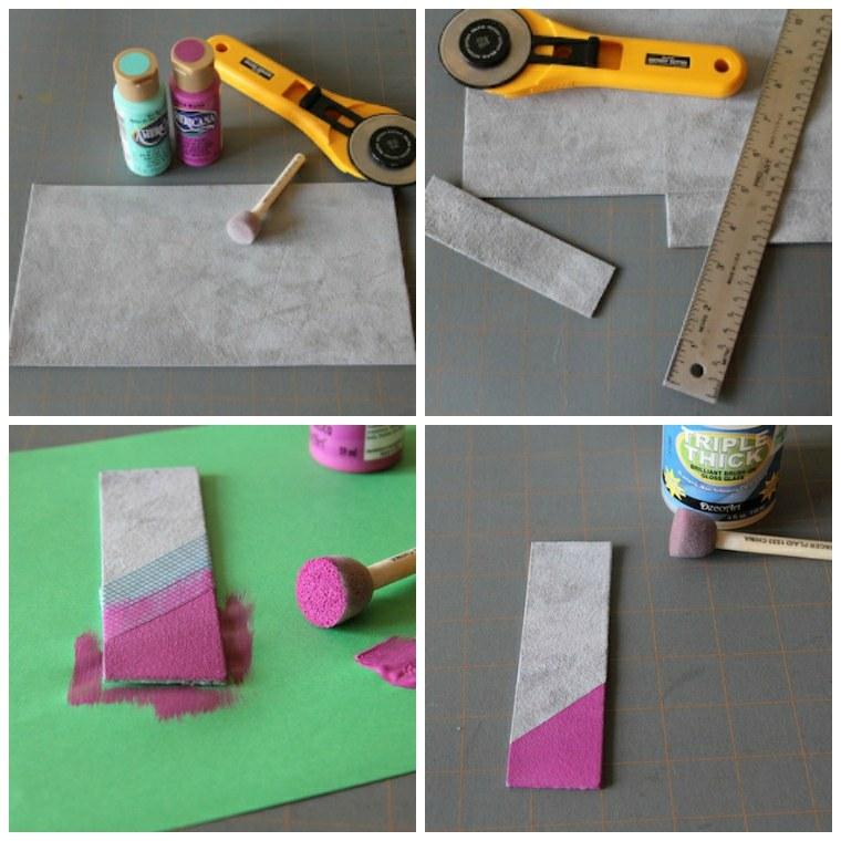 divertidas ideas DIY para pequeños y adultos, como hacer marcarpaginas DIY de cuero