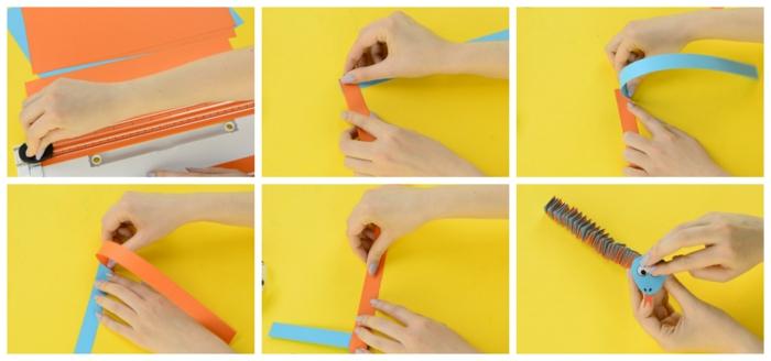 como hacer una serpiente acordeon con papel paso a paso, origami fácil para hacer en casa, manualidades para niños