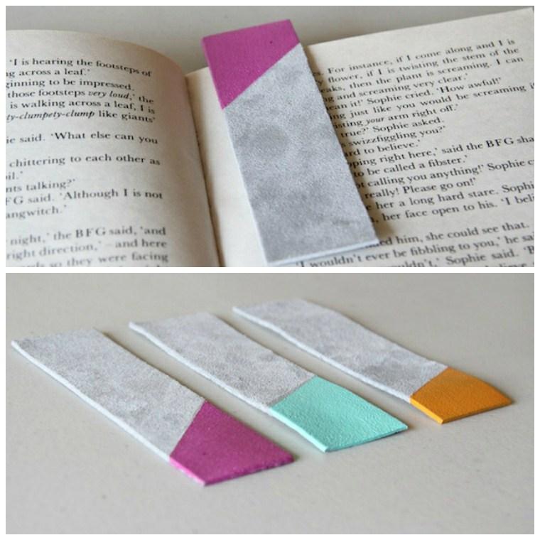 preciosas ideas sobre como hacer marcarpaginas de cuero decoradas, tutoriales paso a paso